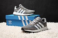 Стильные мужские кроссовки на осень Adidas Iniki Runner Boost Grey (Топ качество, реплика) (реплика)