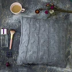 Подушка декоративная Vividzone РОМАНТИК 40х40 серый