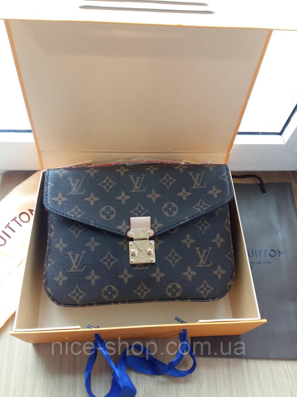 Люкс-реплика Louis Vuitton Metis кожа монограмм в коробке