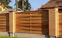 Заборы деревянные из сосны 2000х1700 мм (L=2000,H=1700) «Плетенка», фото 1