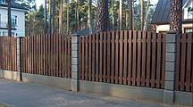 Заборы деревянные из сосны 2000х1700 мм (L=2000,H=1700) «Штакетник фрезерованный радиусный двухсторонний»