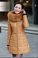 Кожаная куртка с капюшоном 4 цвета, фото 1
