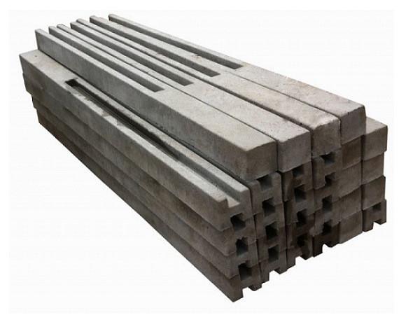 Столб бетонный (опора для забора) 2800 мм (H=2800)