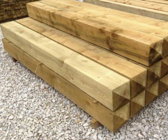 Столб деревянный (опора для забора) 90*90*1750