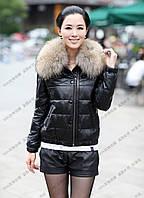 Короткая кожаная куртка   , фото 1