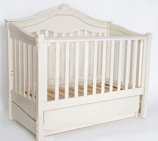 Детская кроватка «VIVA Victoria» ваниль
