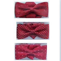 Галстуки-бабочки  для мальчиков красные с платком в карман, фото 3