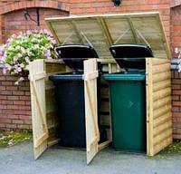 Деревянный бокс для мусорного бака