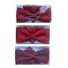 Галстуки-бабочки  для мальчиков красные с платком в карман, фото 2