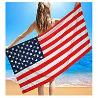 """Пляжное полотенце банное""""Америка"""""""