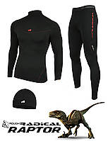 Мужское спортивное термобелье Radical Raptor, комплект термобелья с шапкой в подарок