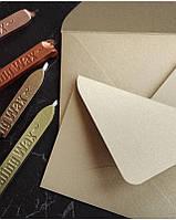 Конверт из крафт бумаги C5, 80 г/м2 бежевый