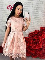 Нарядное и очень красивое платье из гипюра