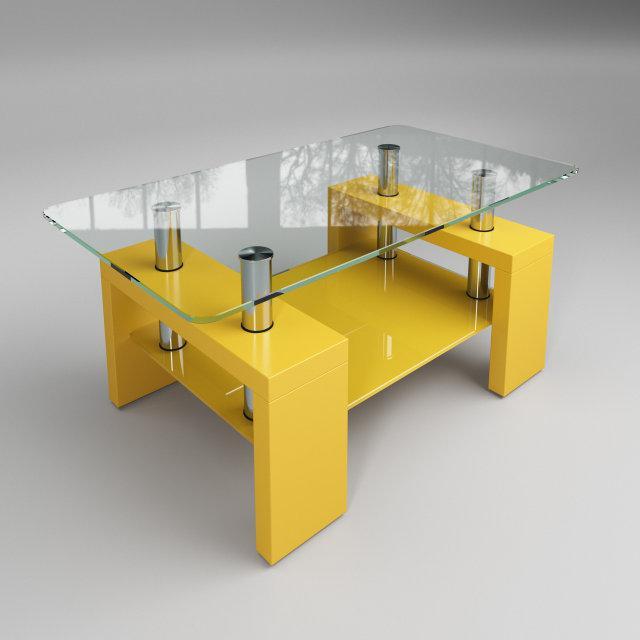 Стол журнальный Престиж мини желтый (Sentenzo TM)