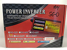 Перетворювач Power Inverter 2000W (DC 12V to AC220V), фото 3