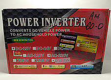 Перетворювач Power Inverter 2500W (DC 12V to AC220V), фото 3