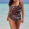Женский купальник слитный с тигровой расцветкой больших размеров