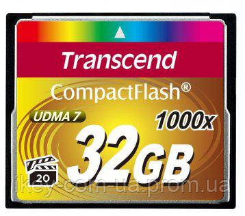 Карта памяти Transcend CF 1000X 32 ГБ (TS32GCF1000) Карта памяти, 32 Г