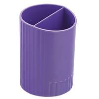 /Стакан для письмового приладдя SFERIK круглий на два відділення, фіолетовий
