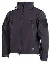 Куртка-ветровка soft shell  «Scorpion» черная MFH.HighDefence