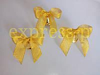 Колокольчики для первоклассников, выпускников школ и детских садов (d-26мм) с золотой лентой
