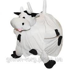 Мяч прыгун  детский c рожками Корова (фитбол детский с рожками) 45см