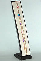 Шикарный браслет с разноцветными камнями. Торопись заказать со СКИДКОЙ -15%