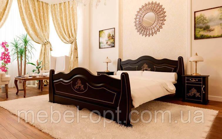 Деревянная кровать Мальва 90х190 см ЧДК, фото 2
