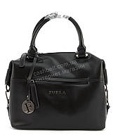 Стильная кожаная элитная женская сумка с качественной кожи FURLA art. LX0081 Турция черная