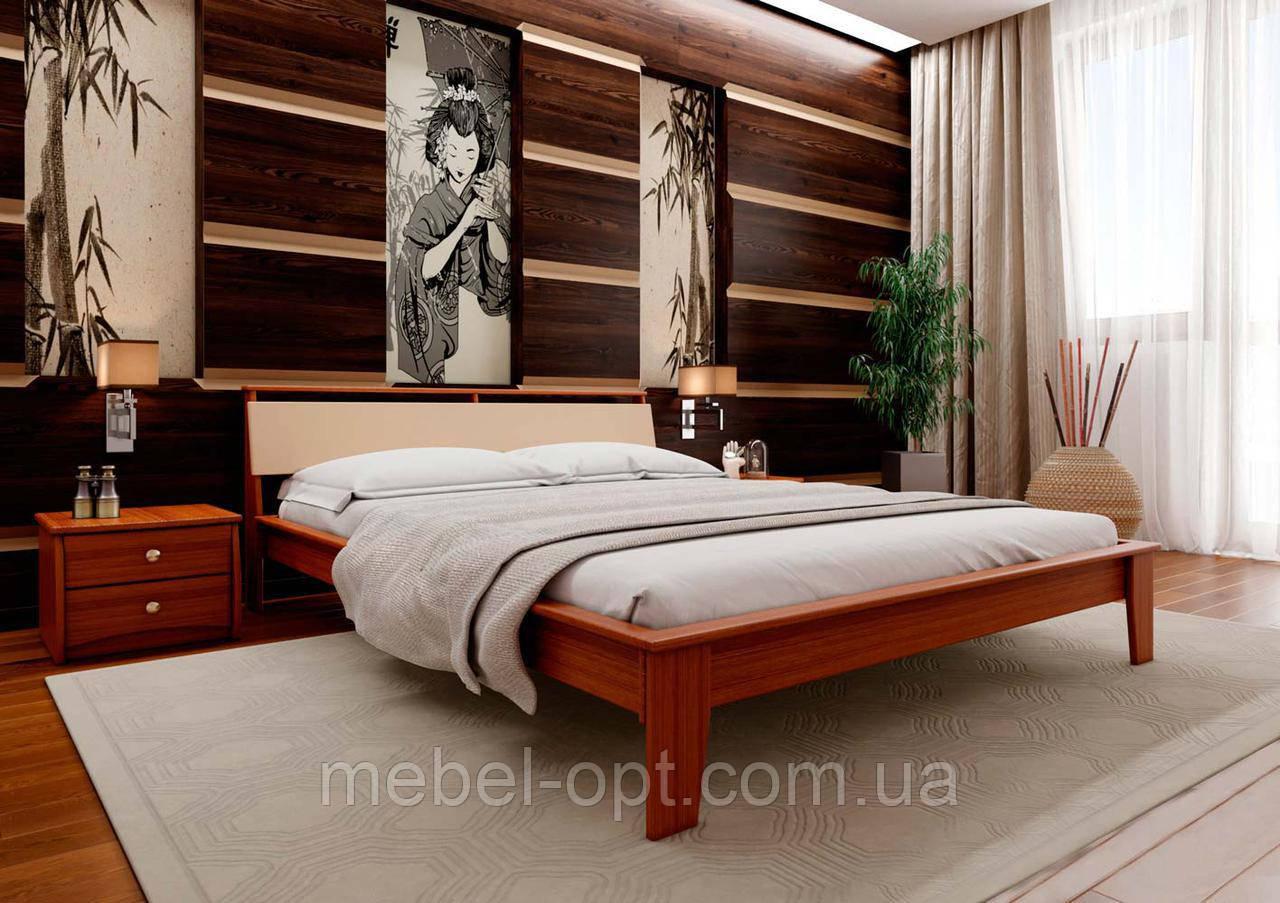 Деревянная кровать Венеция-М 140х190 см ЧДК