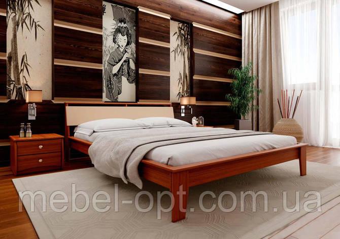 Деревянная кровать Венеция-М 140х190 см ЧДК, фото 2
