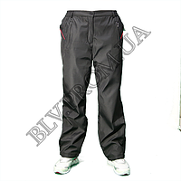 Зимние женские брюки плащевка баталы на флисе  AHR1224G, фото 1