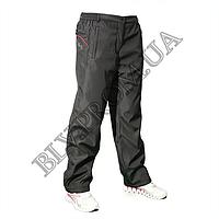 Зимние женские брюки плащевка баталы на флисе  AHR11224G