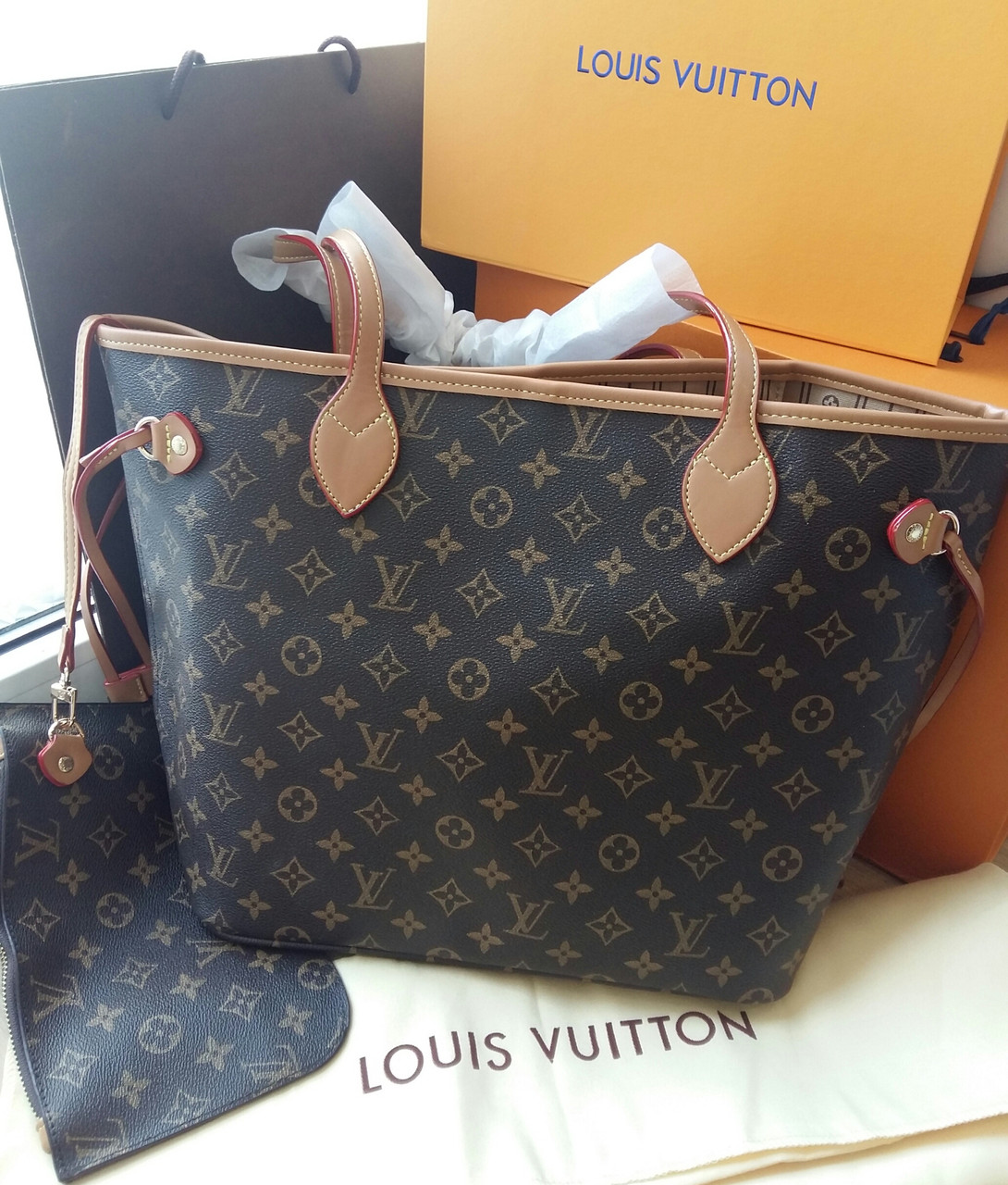 Сумка Louis Vuitton Neverfull Меdium монограмм классика
