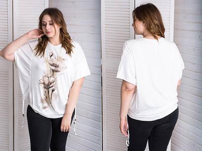 Футболка-блуза   Турция, большого размера