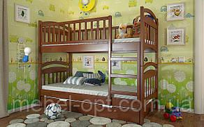 Двухъярусная  Деревянная кровать Смайл 80х190 см Arbor Drev