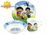 "Детская посуда три предмета , фарфор ""Даша C487"", фото 1"