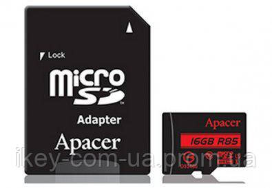 Карта памяти Apacer Micro SDHC 16GB AP16GMCSH10U5-R
