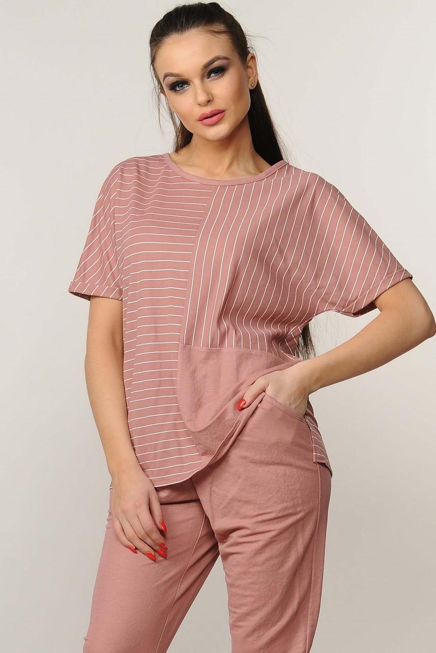 Блуза Хейди трикотаж цвет розовый Ри Мари р.42-52
