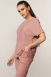 Блуза Хейди трикотаж цвет розовый Ри Мари р.42-52, фото 3