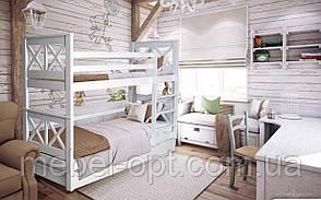 Двухъярусная кровать Лея 80х190 см. Mr.Mebl