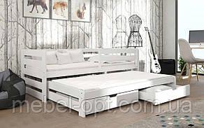 Деревянная кровать Летти 80х190 см MrMebl