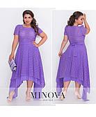 Модное асимметричное платье из натуральной ткани