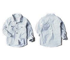 Рубашка Горох (бел) 128