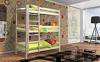 Трехъярусная  Деревянная кровать Мейвис 80х200 см. Mr.Mebl