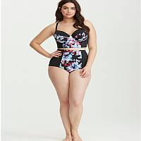Женский купальник раздельный с высокой талией больших размеров, фото 1