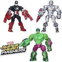 "Набор разборных фигурок 3в1 Халк, Ультрон, Капитан Америка ""Машерс"" -  Mashers, Hasbro, фото 1"