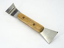 Стамеска пасічна нержавіюча з дерев'яною ручкою