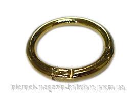 Кольцо-карабин золото диаметр наружный 37 / внутрений 22