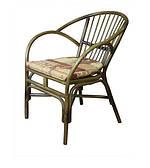 Кресло-стул из ротанга Флорида ЧФЛИ плетенный с подушкой